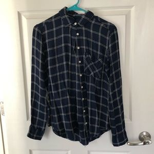 Navy Button Down Flannel